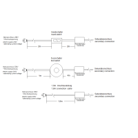Trafo 24W Verteiler AMP 6 Fussschalter weiss  (led driver)