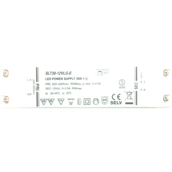 Trafo 30W Verteiler AMP 6 Fussschalter weiss (led driver)