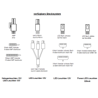 Trafo 15W Verteiler AMP 10 Fussschalter weiss (led driver)
