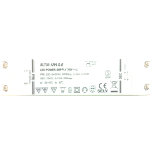 Trafo 30W Verteiler AMP 10 Fussschalter weiss (led driver)