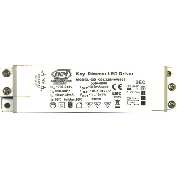 Power-LED-Konverter 10W dimmbar (power led driver) GD-KDL32b10w035