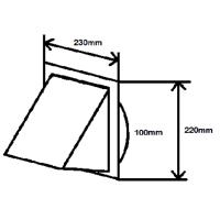 Lüftungshaube NW 100mm edelstahl