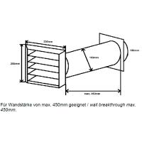 Mauerkasten rund NW 100mm Edelgitter 40045442