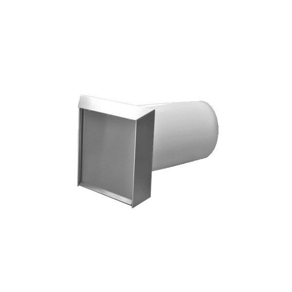 Mauerkasten rund NW 100mm selbsttätige Klappe 40048042
