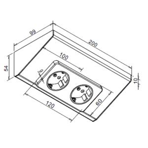 Modular Steckdose 2-fach