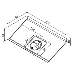 Modular Steckdose 1-fach