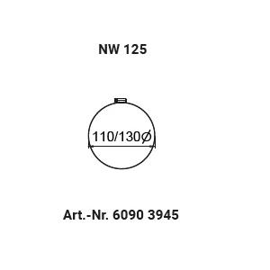 Schlauchschelle NW125 (110-130mm)