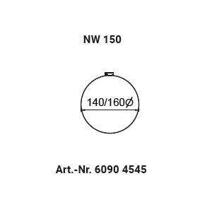 Schlauchschelle NW150 (140-150mm)