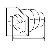 Adapter für Mauerkasten 4008