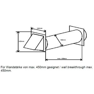 Mauerkasten rund NW 100mm Edelhaube 40046042