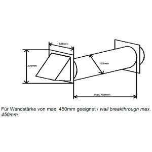 Mauerkasten rund NW 150mm Edelhaube 40046442
