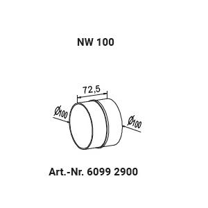 Rohr- / Schlauchverbinder NW100 60992900