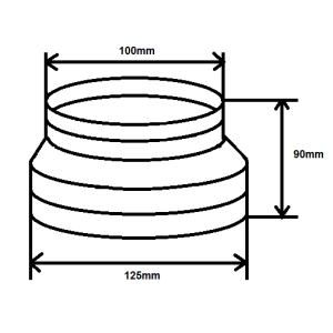 Reduzierstück 100mm 125mm
