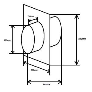 Wandanschluss zweiseitig NW125mm