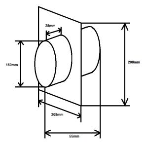 Wandanschluss zweiseitig NW150mm inkl. Rückstauklappe