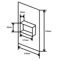 Wandanschluss zweiseitig NW125mm rund / eckig