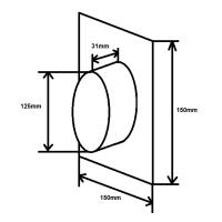Wandanschluss einseitig NW125mm rund