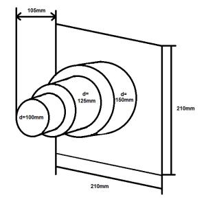 Wandanschluss einseitig NW100/125/150 Stufenanschluss