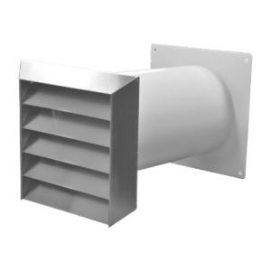 Mauerkasten rund NW 150mm Edelgitter inkl. Rechteckanschluss