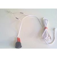 Kabelsatz mit Zentralschalter rund flach weiss