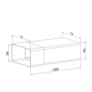 Zwischenstück NW 100mm 1 Meter mit Kupplung