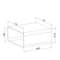 Zwischenstück NW 125mm 1 Meter