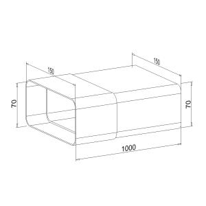 Zwischenstück NW 125mm 1 Meter mit Kupplung