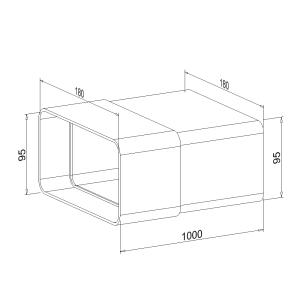 Zwischenstück NW 150mm 1 Meter mit Kupplung