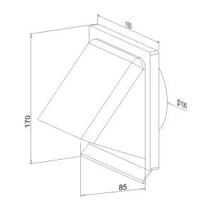 Lüftungshaube NW 100 mm 400104xx