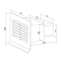 Mauerkasten flach NW 100mm 400501xx