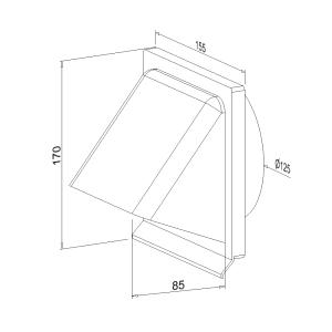 Lüftungshaube NW 125 mm 400204xx