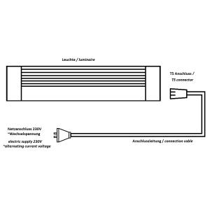T5 Leuchtstoffleuchte 8W ohne warmweiss 3000K