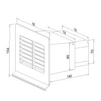 Mauerkasten flach NW 125mm 400505xx