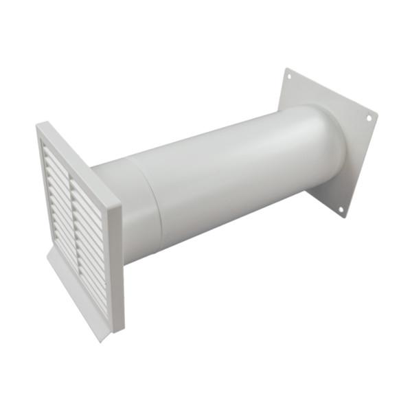 Mauerkasten rund NW 125mm mit Rechteckanschluss 400408xx