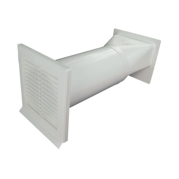 Mauerkasten rund NW 150mm mit Rechteckanschluss 400412xx